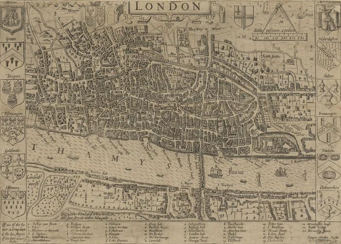 Карта Лондона.