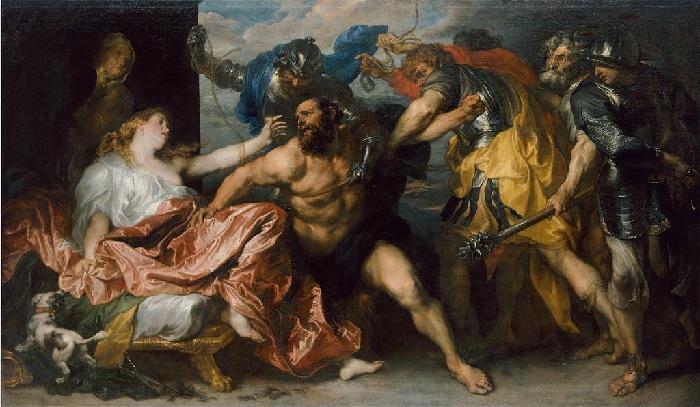 «Самсон и Далила».  Музей истории искусств. Вена. Автор: Антонис ван Дейк.